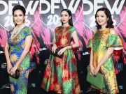 Thời trang - Mỹ nhân Việt rực rỡ sắc hoa cúc trên thảm đỏ