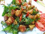 Bếp Eva - Thịt ba chỉ đảo lá mắc mật thơm nức mũi