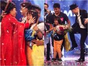 Làng sao - Huy Tuấn hài hước đá mông cậu bé Quán quân Got Talent