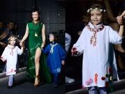 Thời trang - Hồng Nhung đưa cặp song sinh lên sàn diễn thời trang VDFW