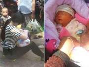 Bà bầu - Cảm động mẹ trẻ cho bé bị bỏ rơi bú ngay trên đường phố