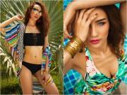 Thời trang - HH Ngọc Diễm gợi ý cách chọn bikini sexy với da nâu
