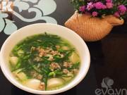 Bếp Eva - Canh đậu hũ non bông hẹ giải nhiệt mùa hè