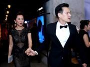 """Làng sao - MC Kỳ Duyên được bạn trai kém tuổi """"tháp tùng"""" ra mắt phim"""