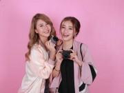 Làng sao - Hot girl Salim tinh nghịch chụp ảnh cùng Quỳnh Anh Shyn