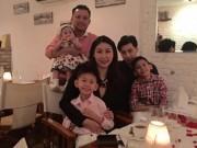 Làng sao - HH Hà Kiều Anh hạnh phúc đón sinh nhật tuổi 40 bên chồng con