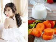 Làm đẹp - 8 công dụng thần kỳ của sữa chua - cà rốt
