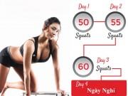 Lịch trình 30 ngày thay đổi vóc dáng với Squats
