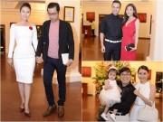 Làng sao - Ngọc Lan và người yêu nắm tay đi đám cưới Quang Tuấn - Linh Phi