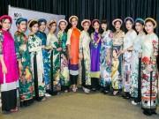 Thời trang - Biểu diễn áo dài mừng sinh nhật Bác ở phố đi bộ Nguyễn Huệ