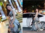 Làng sao - Trương Quỳnh Anh xinh đẹp lộng lẫy bên xế hộp tiền tỷ