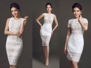 Thời trang - Huyền My mặc váy ren bó sát khoe đường cong