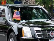 """Tin tức - Cận cảnh chiếc """"quái thú"""" chở TT Obama trên phố HN"""