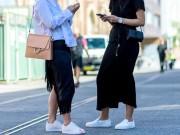 """Thời trang - Sneaker trắng - mốt thời trang hot nhất năm: Diện thế nào mới  """" chất """" ?"""