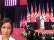 Làng sao - Mỹ Linh lên tiếng khi bị chê hát Quốc ca trước Tổng thống Obama