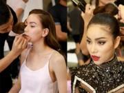 Thời trang - Hà Hồ, Phạm Hương đẹp bất phân thắng bại trong hậu trường The Face