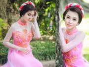 Thời trang cưới - Áo dài hồng cho cô dâu ngọt ngào ngày vu quy
