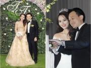 Làng sao - Hoa khôi Lại Hương Thảo lên xe hoa cùng chồng hơn 10 tuổi