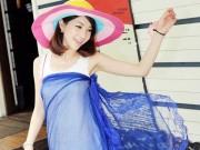 Clip Eva - 4 cách mặc khăn choàng đi biển thành áo, váy siêu gợi cảm
