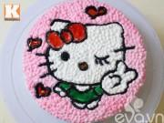 Bếp Eva - Bánh kem hình mèo Kitty cho bé ngày 1-6