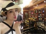 Làng sao - Giáng My tiết lộ về biệt thự dát vàng của nhà chồng Hà Tăng