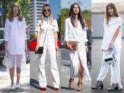 Thời trang - Cách mix màu trắng siêu cao thủ của các quý cô mặc đẹp nổi tiếng thế giới