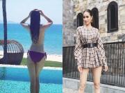 Thời trang - Phạm Hương gây choáng váng khi bán nude trước biển