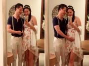 Chồng đại gia đỡ bụng bầu 5 tháng cho Phan Như Thảo
