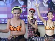 Làng sao - Lại Thanh Hương gây sốc khi mặc bikini chơi nhạc
