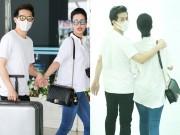 Làng sao - Đông Nhi và bạn trai tình tứ nắm tay tại sân bay