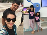 Làng sao - Vợ chồng Bình Minh đưa 2 con gái đi