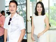 Làng sao - Ông xã điển trai tháp tùng Lê Khánh đi sự kiện