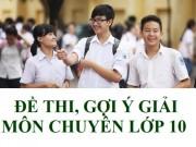 Gợi ý đáp án đề thi vào lớp 10 môn chuyên TP Hồ Chí Minh năm 2016