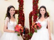 """""""Gái quê"""" Lê Thị Phương giản dị với váy cưới bạn tặng"""