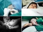 Bà bầu - Xem trọn ca đẻ mổ nam bác sĩ tự chụp vợ sinh con