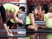 Con gái Xuân Lan cực đáng yêu khi tập Yoga cùng mẹ
