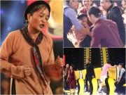 Làng sao - Nói quá nhiều, Lê Thị Dần bị Trấn Thành – Thu Trang khiêng vào trong sân khấu