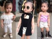 Thời trang - Bé gái Tuyên Quang 16 tháng tuổi cứ ra phố là mọi người trầm trồ