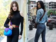 Thời trang - Hà Hồ và bạn gái Cường Đô la nhiều pha đụng hàng hiệu
