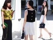 Thời trang - Mặc trời nắng nóng, chị em Hà Nội vẫn mặc đẹp
