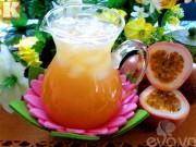 Bếp Eva - Tự pha trà chanh leo giải khát ngày hè