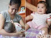 """Bà bầu - Gặp bé 5 tháng tuổi cực yêu của cặp đôi """"tóc bạc mới có con"""""""