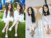 """Làm mẹ - Đốn tim với 2 cô bé hotgirl Hà Nội chân dài """"không đợi tuổi"""""""