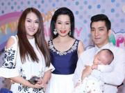 Làng sao - Phi Thanh Vân bế con trai đang ngủ đến mừng con gái Trịnh Kim Chi