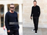 Thời trang - David Beckham cuốn hút cực độ tại show Louis Vuitton