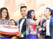 """Làng sao - Diễn viên """"Cô dâu 8 tuổi"""" đút bánh kem cho Nguyên Khang"""