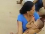 Clip Eva - Video: Mẹ bị xe cán nát chân vẫn điềm tĩnh cho con bú
