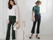 Thời trang - Chán quần ống rộng hãy mặc ngay quần ống loe