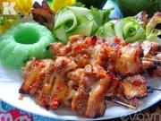 Bếp Eva - Thịt xiên nướng thơm lừng góc bếp
