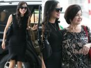 Bebe Phạm thân thiết bên mẹ chồng tại sân bay